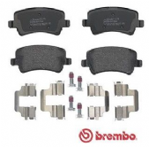 LR043285 P24078 Brembo Rear Brake Pad Set